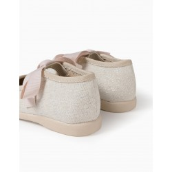 BRIGHT BALLERINAS FOR BABY GIRL, BEIGE