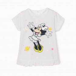 BABY GIRL T-SHIRT 'MINNIE MOUSE', WHITE