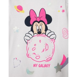LONG SLEEVE T-SHIRT FOR BABY GIRL 'MINNIE GALAXY', WHITE