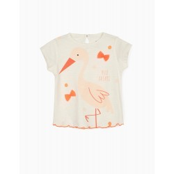 T-SHIRT FOR BABY GIRLS, 'NILO DREAMS', WHITE