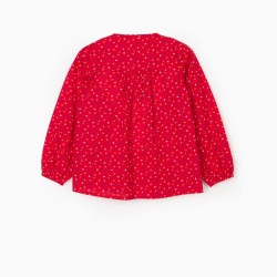 'HEARTS' GIRL'S BLOUSE, RED