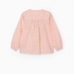 'HEARTS' GIRL'S BLOUSE, PINK