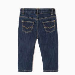 'SLIM FIT' BABY GIRL JEANS, DARK BLUE