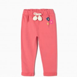 BABY POMPOMS TRAINING PANTS, PINK
