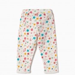 BABY GIRL TRAINING PANTS 'FLORES', WHITE
