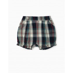 CHECKERED SHORTS FOR BABY GIRL 'B & S', MULTICOLOR