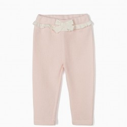 BABY GIRL BOW TIE TRAINING PANTS, PINK