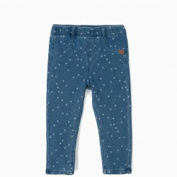 ESTRELLITAS BABY GIRL JEGGINGS, BLUE