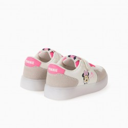 'MINNIE PLANET' GIRL LIGHT SNEAKERS, WHITE