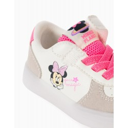'MINNIE PLANET' BABY GIRL LIGHT SNEAKERS, WHITE