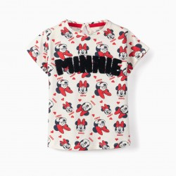 GIRL'S T-SHIRT 'MINNIE', WHITE
