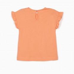 'FLAMENCO' BABY GIRL T-SHIRT, ORANGE