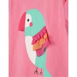 BABY GIRL 'BIRD' T-SHIRT, PINK