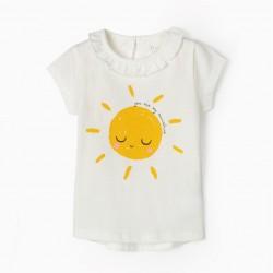 BABY GIRL T-SHIRT 'SUNSHINE', WHITE