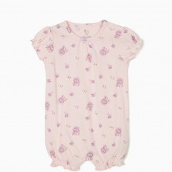 BABY GIRLS' PAJAMAS AND ROMPERS' JELLYFISH ', PINK AND WHITE