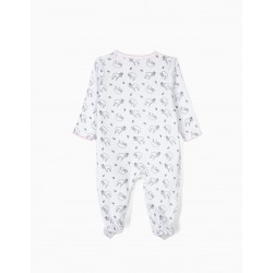 'QUEEN SLOTH' NEWBORN BABYGROW, WHITE