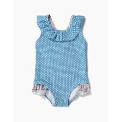 BABY GIRLS 'DOTS & PAISLEY' SWIMSUIT, BLUE