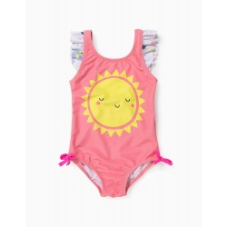 UV 60 PROTECTION SWIMSUIT FOR BABY GIRL 'SUN', PINK