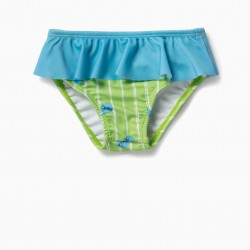 BATHING BRIEFS FOR BABY GIRL, GREEN AND BLUE