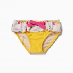 BATH DOTS FOR BABY GIRL 'DOTS' ANTI-UV 80, YELLOW