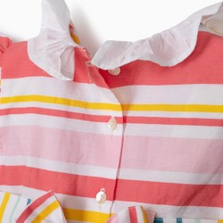 BABY GIRL'S STRIPED DRESS, MULTICOLOR