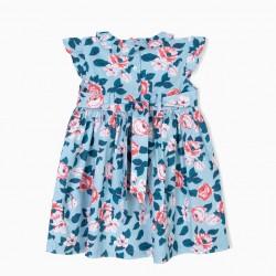 BABY GIRL FLOWER DRESS, BLUE