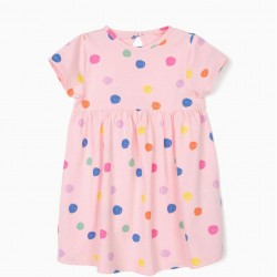 BABY GIRL DRESS 'DOTS', PINK