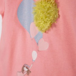 BABY GIRL 'BALLOONS' T-SHIRT, PINK