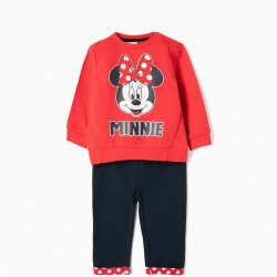 'MINNIE' BABY GIRL TRACKSUIT, RED AND BLUE