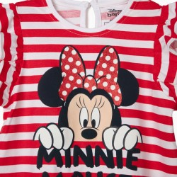 BABY GIRL STRIPE DRESS 'MINNIE MOUSE' RED/WHITE