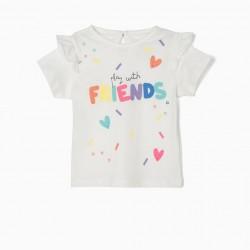 BABY GIRL T-SHIRT 'FRIENDS', WHITE