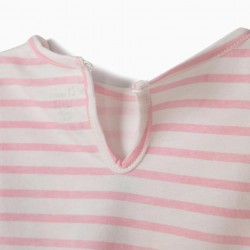BABY GIRL T-SHIRT 'ALWAYS TOGETHER', WHITE AND PINK