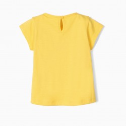 BABY GIRL T-SHIRT 'BETTER TOGETHER', YELLOW