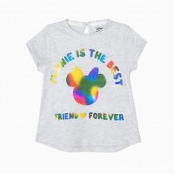 BABY GIRL T-SHIRT 'MINNIE BFF', GRAY