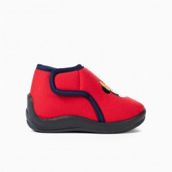 BABY GIRL SLIPPERS 'MINNIE CHRISTMAS', RED