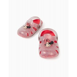 CLOGS SANDALS FOR BABY GIRL 'MINNIE, TRANSPARENT / RED