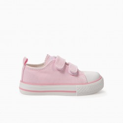 '50'S SNEAKER' BABY SHOES WITH VELCRO, PINK