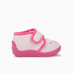 BABY GIRL SLIPPERS 'TEDDY BEAR', PINK