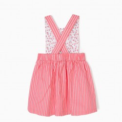 BABY GIRL STRIPED CHEST SKIRT, PINK