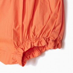 BABY GIRL SHORTS WITH BOW, ORANGE