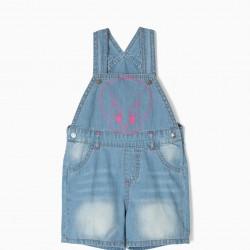 DENIM JUMPSUIT FOR BABY GIRL 'TWEETY', LIGHT BLUE