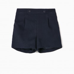 B&S' BABY GIRL SHORTS, DARK BLUE
