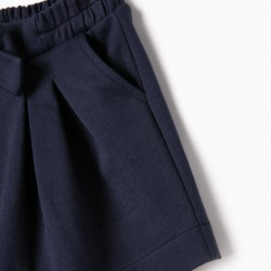 BABY GIRL SHORTS, DARK BLUE