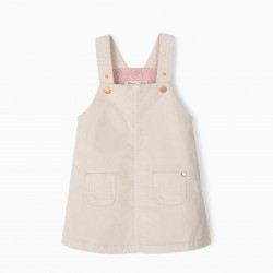 BOMBAZINE BREAST SKIRT FOR BABY GIRL, BEIGE