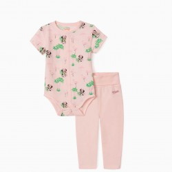 MINNIE BABY BODYSUIT AND PANTS, PINK