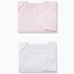 PACK 2 BODIES LONG SLEEVE WHITE AND PINK