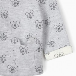 JACKET FOR NEWBORN BABY BOYS, 'MICKEY MOUSE', GREY