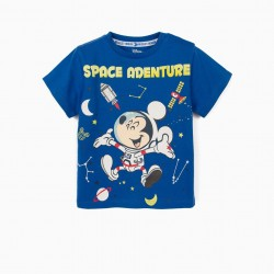 'MICKEY SPACE ADVENTURE' BABY BOY T-SHIRT, BLUE