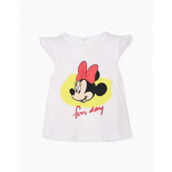 T-SHIRT FOR BABY GIRL 'MINNIE FUN DAY', WHITE